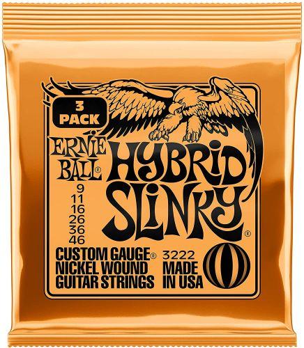 Ernie Ball 3222 Regular Slinky Nickel Wound Electric Guitar String Sets, 3 Pack, 9-46